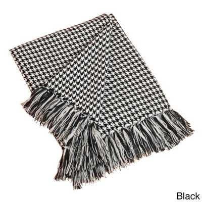 Houndstooth Design Throw Blanket - Overstock