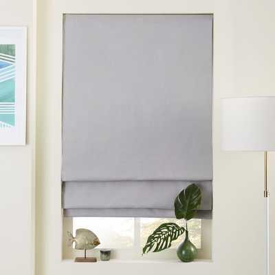 """Linen/Cotton Roman Shade + Blackout Liner- 26""""w x 64""""l."""" - West Elm"""