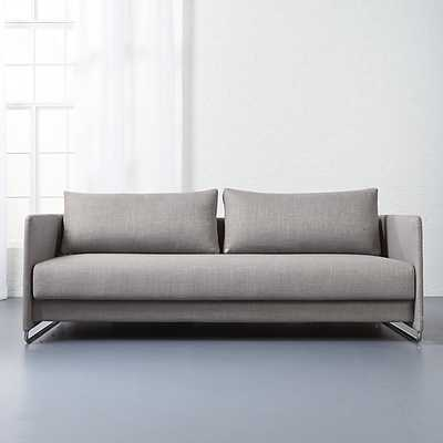 Tandom grey sleeper sofa - CB2