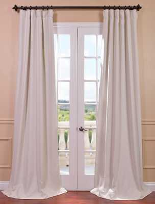 Cottage White Bellino Blackout Curtain - halfpricedrapes.com