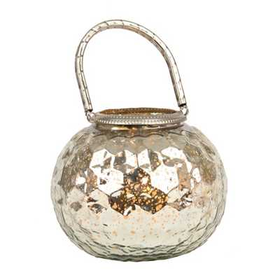 Silver Mercury Glass Votive Lantern - kirklands.com