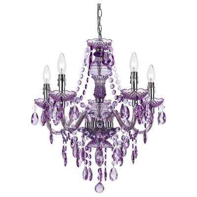 5 Light Crystal Chandelier - Grape - Wayfair