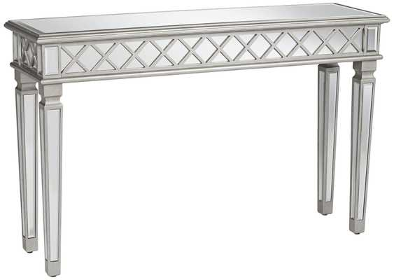 Divonne Classical Silver Mirrored Console Table - Lamps Plus