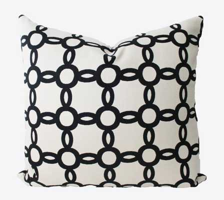 Decorative Black and White Geometric, Circle Ring Pillow Cover, 20x20 - Insert Sold Separately - Etsy