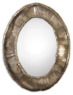 Vevila Wall Mirror, Heavy Gray - One Kings Lane