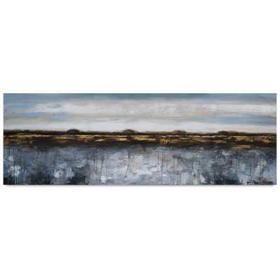 """Grey Mist II Wall Art-24"""" H x 72"""" W x 1.25"""" D-Unframed - Wayfair"""