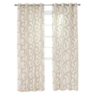"""Yorkshire Home Andrea Embroidered Curtain Panel - 108"""" - Target"""