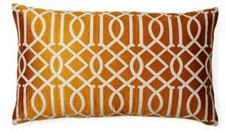 Jax 14x24 Embroidered Pillow, Orange - One Kings Lane