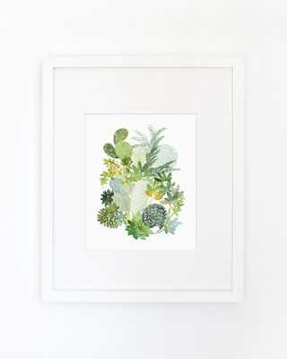 Cactus No. 5 - Watercolor Art Print-  11x14- Framed - Etsy