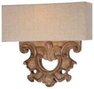 2-Light Wall Sconce, Classic Oak Patina - One Kings Lane