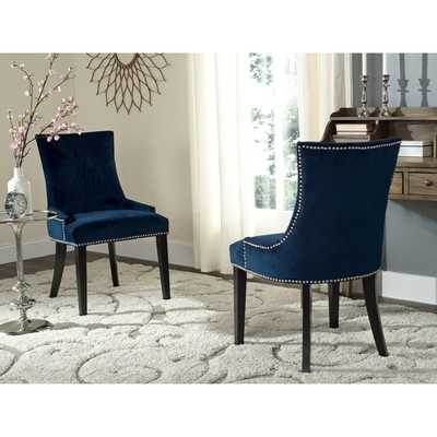 Safavieh Lester Navy Dining Chair (Set of 2) - Overstock