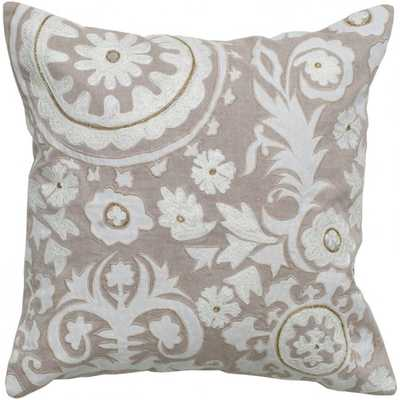 Rizzy 18 in. x 18 in. Khaki Pillow no insert - supply.com