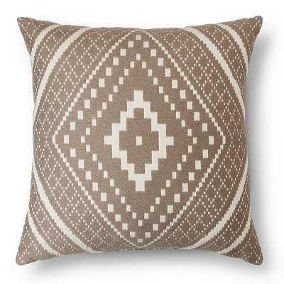 Woven Global Grey Oversize Toss Pillow – Threshold™ - Target