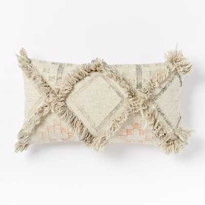 Shag Diamond Pillow Cover - West Elm