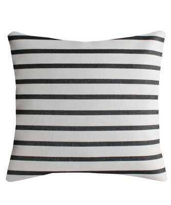 "French Stripe Throw Pillow - 18"" x 18"", down insert included - High Street Market"