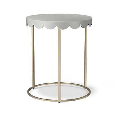 Scallop Kids Accent Table - Gray marble - Target