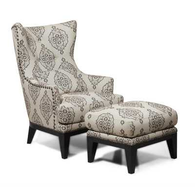 Kelsey Wingback Chair & Ottoman - Wayfair