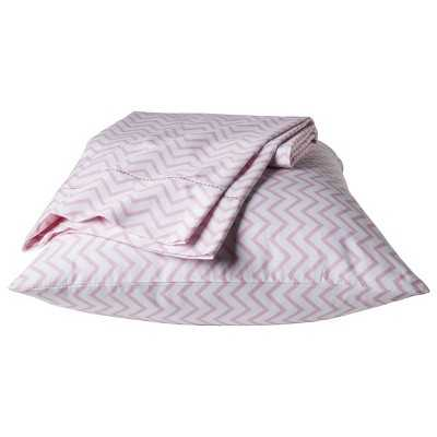 "Chevron Sheet Set - Pink - Pillowfortâ""¢-Twin - Target"