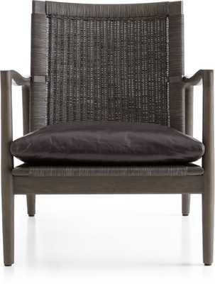 Sebago Chair with Leather Cushion- Espresso - Crate and Barrel