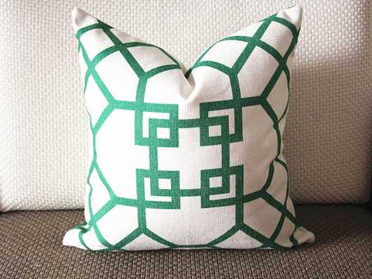 Pillow Cover-Emerald Green-20x20-no insert - Etsy