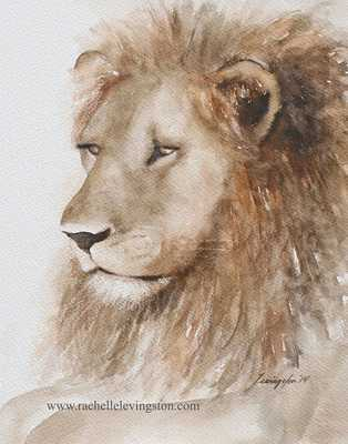 """Painting of Lion painting lion art- 11X14""""-Unframed - Etsy"""