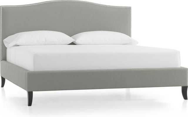 Colette Upholstered King Bed - Fog - Crate and Barrel