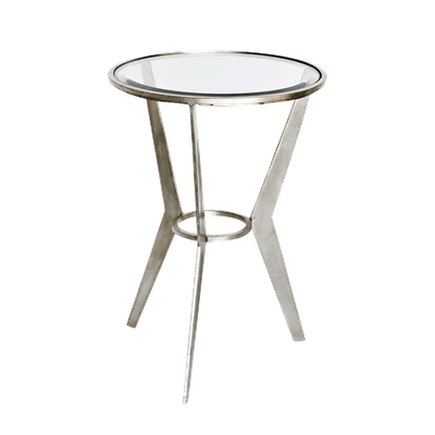Wilma Silver Leaf Side Table - Domino