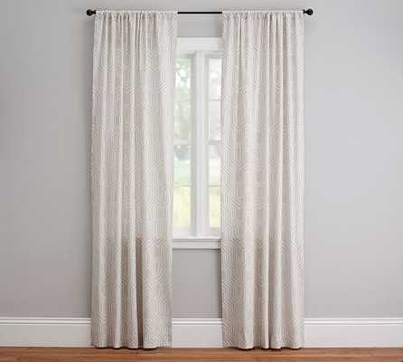"Isla Print Drape - 96""-Light taupe - Pottery Barn"