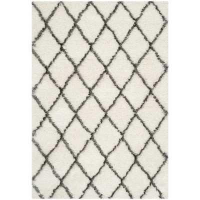 Safavieh Moroccan Shag Ivory/ Grey Rug - Overstock