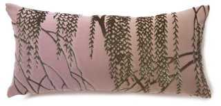 Willow 8x16 Silk-Blend Pillow - One Kings Lane
