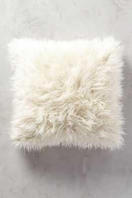 "Shag Puff Pillow - 20"" x 20"" - Anthropologie"