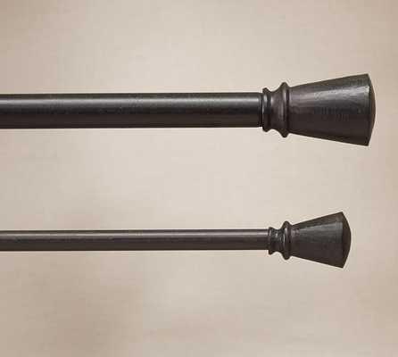 Cast Iron Tapered Finial Drape Rod - Pottery Barn