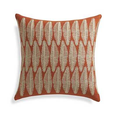 """Falvo 18"""" Pillow with Down-Alternative Insert - Crate and Barrel"""