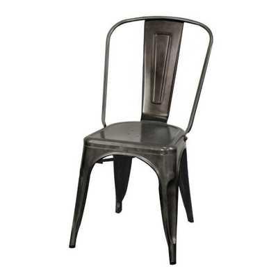 Oxford Metal Chair, set of 4 GUNMETAL - Apt2B