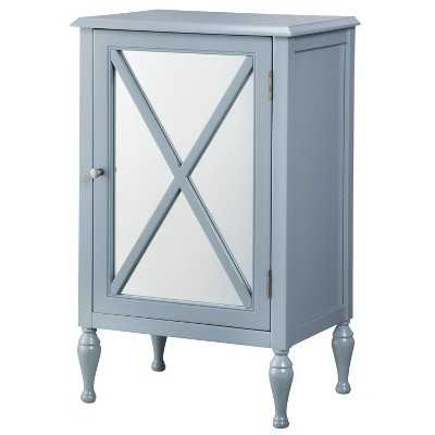 Hollywood Mirrored One Door Accent Cabinet - Target