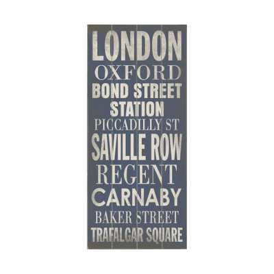 "London Transit Textual Art Plaque - 24"" H x 10"" W x 0.875"" D - Unframed - Wayfair"