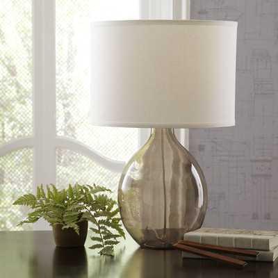 Riverston Glass Table Lamp - Gray - Wayfair