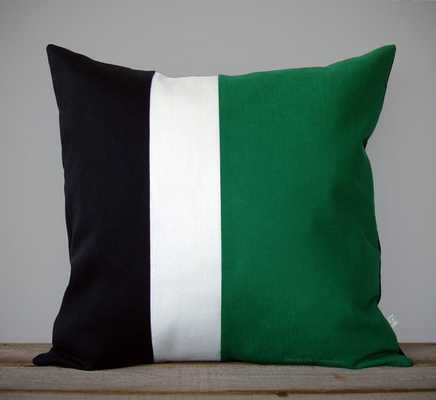 Kelly Green Colorblock Stripe Pillow - Etsy