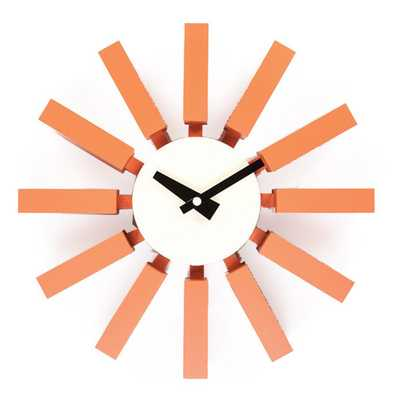 Hans Andersen Home Orange Block Clock - Overstock