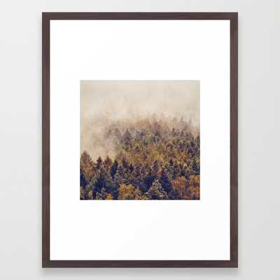 "FRAMED ART PRINT	/ CONSERVATION WALNUT MEDIUM (GALLERY) (20"" X 26"") - Society6"