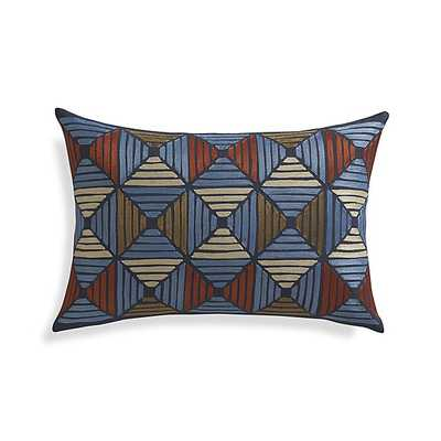 """Kenzie 18""""x12"""" Pillow with Feather-Down Insert - Crate and Barrel"""