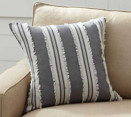 """Appliqué Stripe Pillow Cover- 20"""" sq- Insert sold separately. - Pottery Barn"""