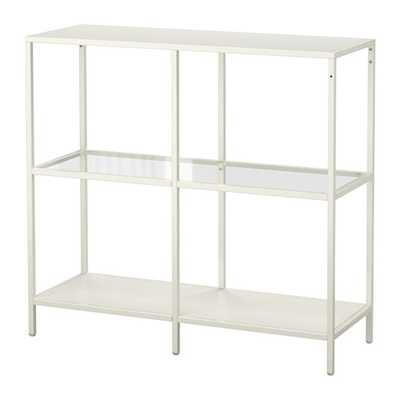 VITTSJÖ- Shelving unit, white, glass - Ikea