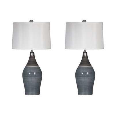 Niobe Table Lamp with Drum Shade - Wayfair