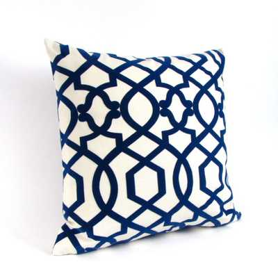 LATTICE Pillow Cover - Blue/Ivory - 18x18 - No Insert - Etsy