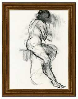 """Black and White Figure II - 22"""" x 28"""" - Framed - One Kings Lane"""