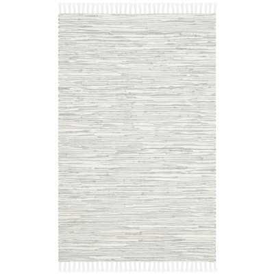 Montauk Silver Abstract Outdoor Area Rug - Wayfair
