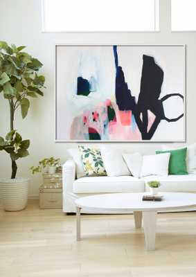 """ABSTRACT print, Giclée print of painting, black, white, pink, """"Aperture of Distinction iii"""" - Etsy"""