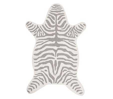 Zebra Shaped Rug - Gray - Pottery Barn Kids
