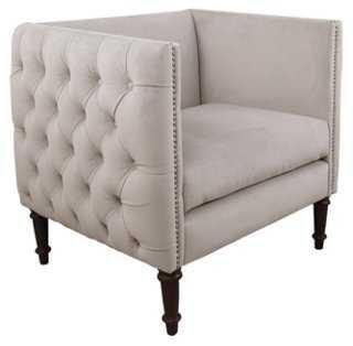 Aldridge Tufted Club Chair, Dove Gray - One Kings Lane